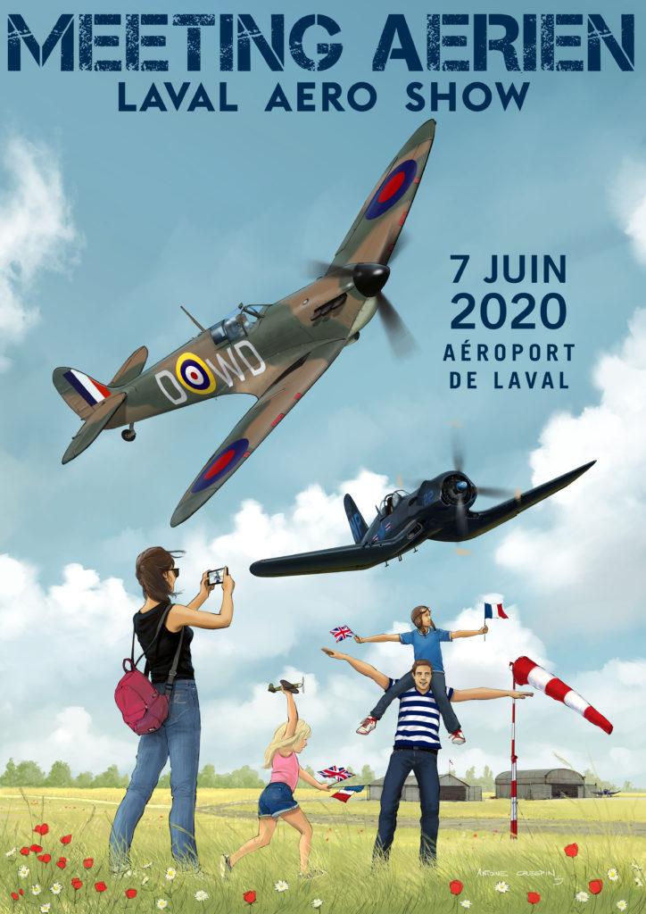 Affiche Laval Aéro Show 2020